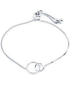 Interlocking Circles Bolo Bracelet in Sterling Silver, Created for Macy's