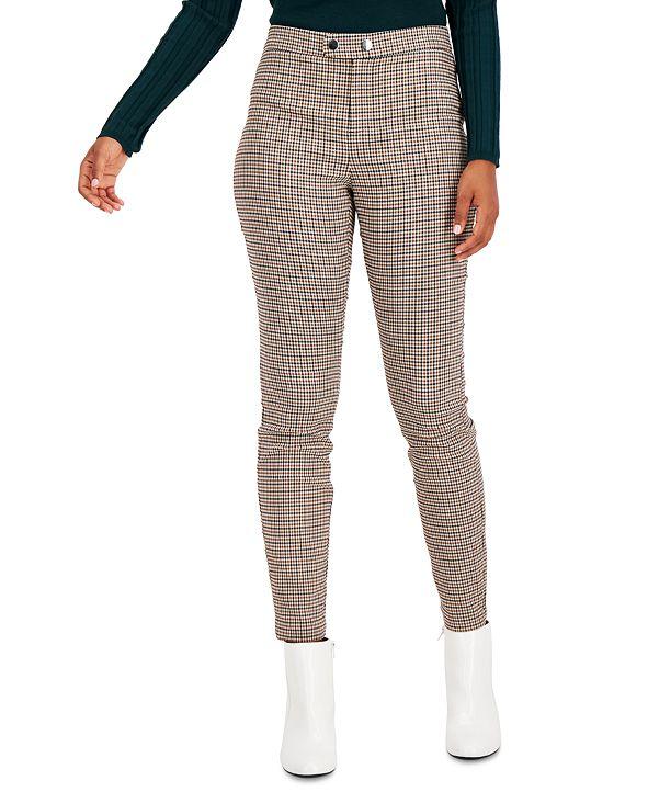INC International Concepts INC Plaid Skinny Pants, Created for Macy's