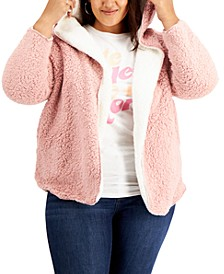 Trendy Plus Size Reversible Fleece Cardigan