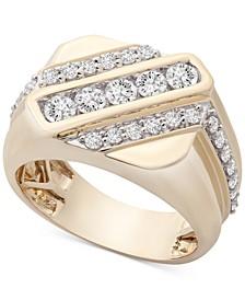 Men's Diamond Diagonal Ring (1 ct. t.w.) in 10k Gold