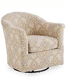 "Arold 32"" Fabric Swivel Glider Chair, Created for Macy's"