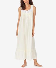 Cotton Swiss Dot Ballet Nightgown