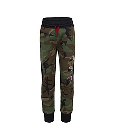 Little Boys Jumpman Classics Camo Print Fleece Pants