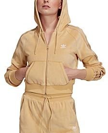 Women's Velour Zip Hoodie
