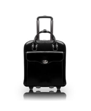 "McKlein Melrose 15"" Top Grain Cowhide Leather Vertical Wheeled Ladies' Laptop Briefcase"