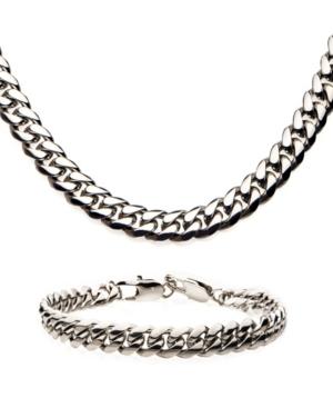 Men's Curb Necklace and Bracelet Set