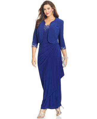 Alex Evenings Plus Size Dress Sleeveless Jewel Neck Faux