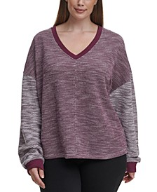 Plus Size Drop-Shoulder Top