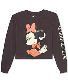 Juniors' Forever Minnie Long-Sleeved Graphic T-Shirt