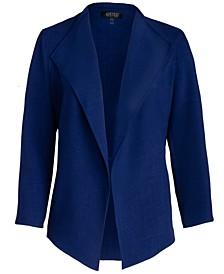 Plus Size Cropped Shawl-Collar Blazer