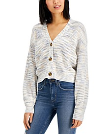 Juniors' Cropped Cardigan Sweater