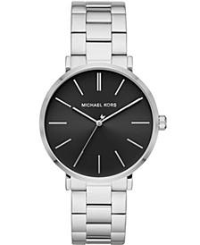 Men's Auden Three-Hand Stainless Steel Bracelet Watch 42mm