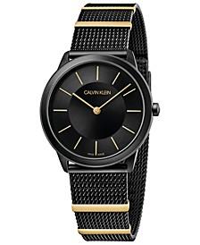 Women's Midsize Minimal Two-Tone PVD Stainless Steel Mesh Bracelet Watch 35mm