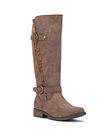 Oliva Miller Women's Wide Calf Sherry Boots