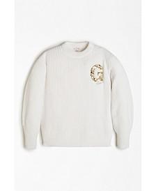 Big Girls Chenille Crewneck Sweater