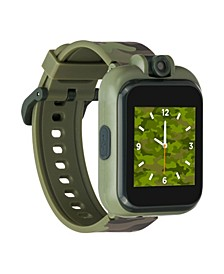 Kid's Playzoom 2 Olive Camouflage Print Tpu Strap Smart Watch 41mm