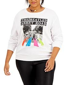 Trendy Plus Size The Beatles-Graphic Sweatshirt