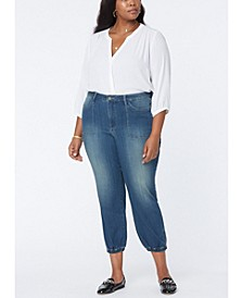 Plus Size Stretch Denim Jogger Jeans