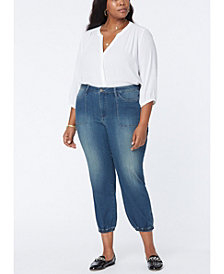 Plus Size Stretch Denim Jogger Jeans