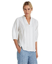 V-Neck Puffed Sleeve Top