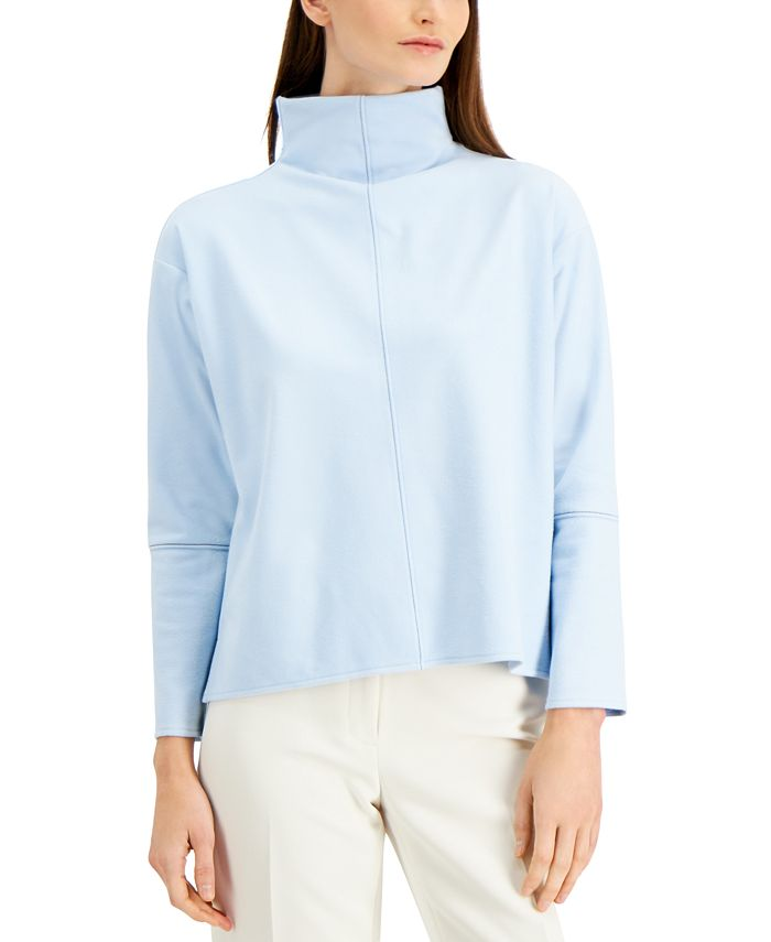 Alfani - Mock-Neck Split-Hem Top