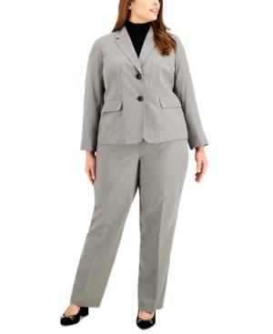 Plus Size Herringbone Pantsuit