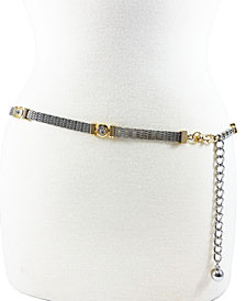 Women's Mesh Casted Stone Chain Belt