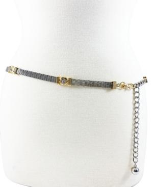 Women's Mesh Casted Stone Chain Belt