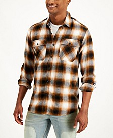 Men's Aussie Plaid Flannel Shirt, Created for Macy's
