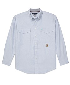 Men's Iconic Re-Issue Classic-Fit Stretch Oxford Shirt with Magnetic Buttons