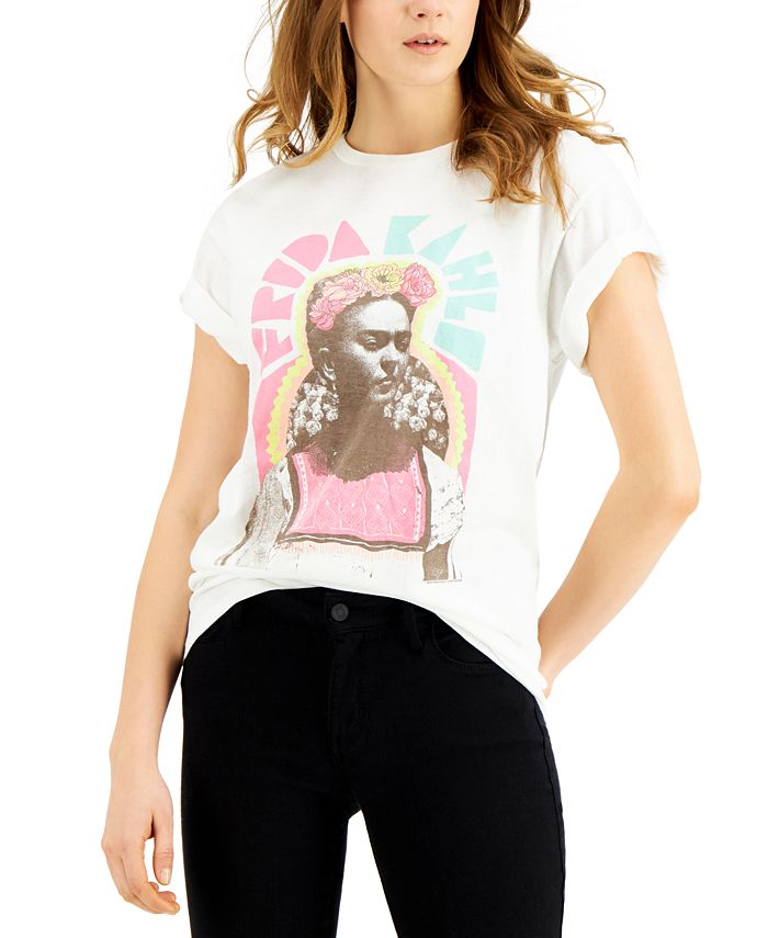 Junk Food - Frida Kahlo Cotton T-Shirt