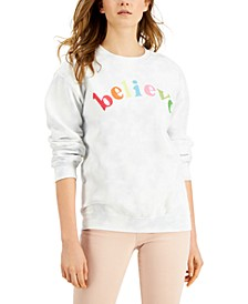 Women's Believe Cotton Tie-Dye Sweatshirt