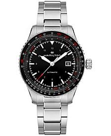 Men's Swiss Automatic Khaki Aviation Converter Stainless Steel Bracelet Watch 42mm