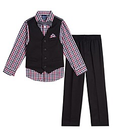 Baby Boys Solid Textured Vest Set