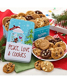 Peace, Love and Cookies 30 Nibblers Bite-Sized Cookies Tin