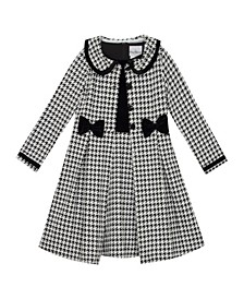 Big Girl Knit Houndstooth Coat Dress Set