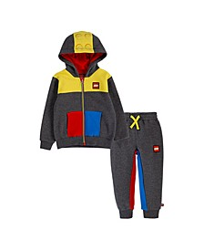 LEGO Toddler Boys Fleece Zip Hoodie and Joggers Set