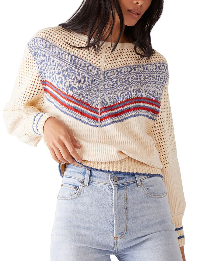 Free People - Geo Party Printed Perforated Sweater