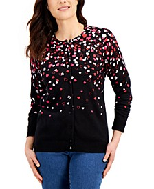 Heart-Print Cardigan, Created for Macy's