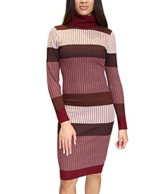 Juniors' Striped Bodycon Midi Dress
