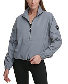Reflective Half-Zip Pullover Jacket