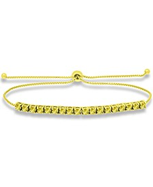 Yellow Cubic Zirconia Bolo Bracelet in 18k Gold-Plated Sterling Silver, Created for Macy's