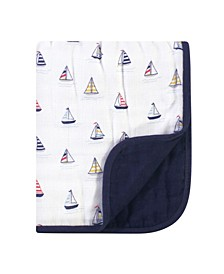 Baby Boys and Girls Muslin Tranquility Quilt Blanket