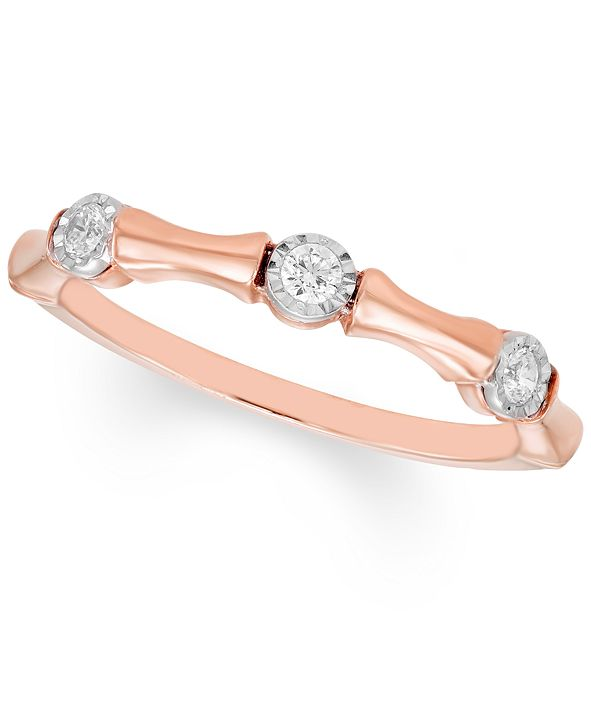 Macy's Diamond Band (1/8 ct. t.w.) Available in 10k Gold , 10k White Gold or 10k Rose Gold