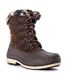 Women's Lumi Tall Lace Water Resistant Cold Weather Boots