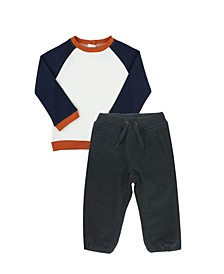 Baby Boys Long Sleeve Sweater and Chino Jogger Set