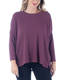 Women's Plus Size Oversized Dolman Tunic Top