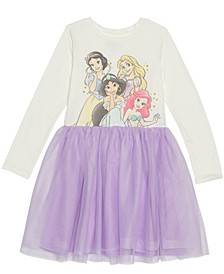 Big Girls Princess Sparkle Dress with Mesh Skirt