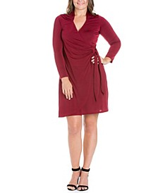 Women's Plus Size Mini Wrap Dress