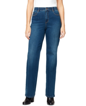 Women's High Rise Relaxed Straight Long Length Jeans
